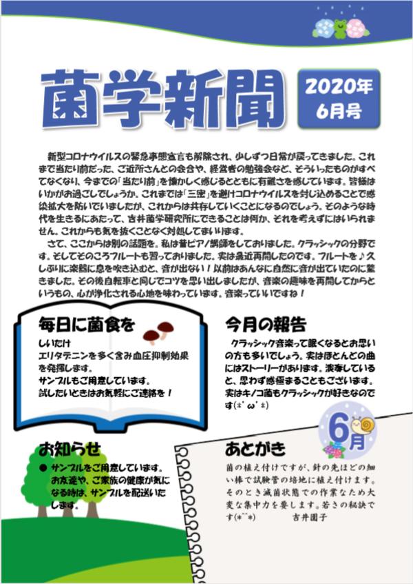 菌学新聞6月号